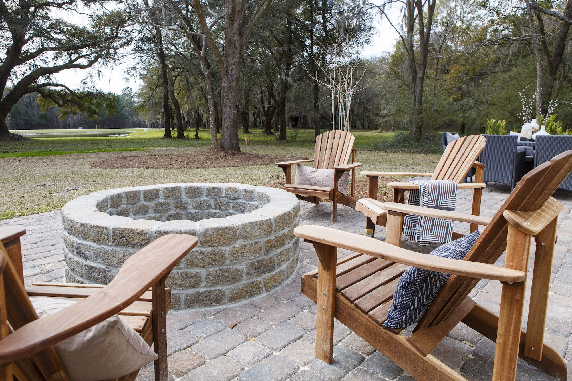 Backyard in Waterloo Estates on Johns Island - Crescent Homes