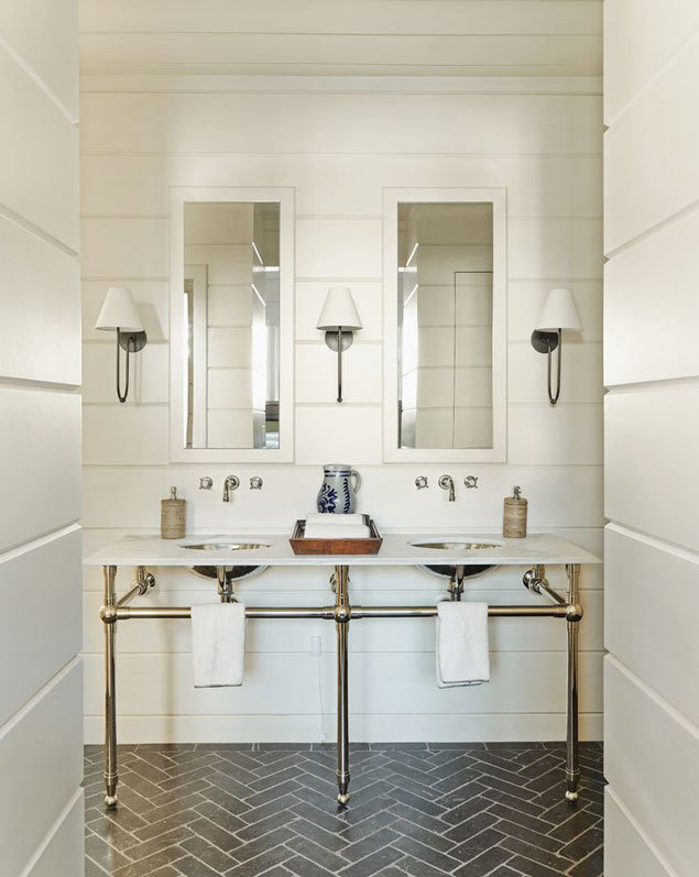 Bathroom Design Trend: Herringbone Tile