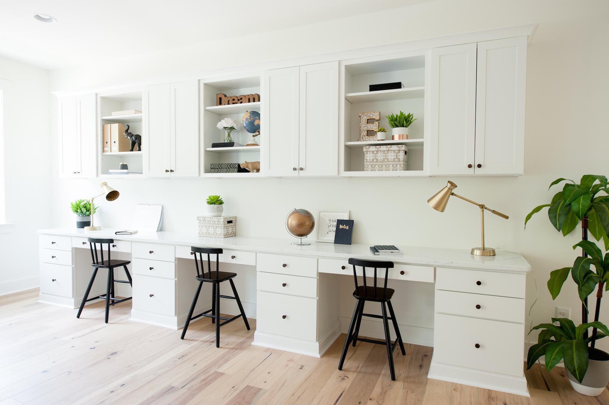 Crescent Homes Covington Bonus Room custom built-ins flex space