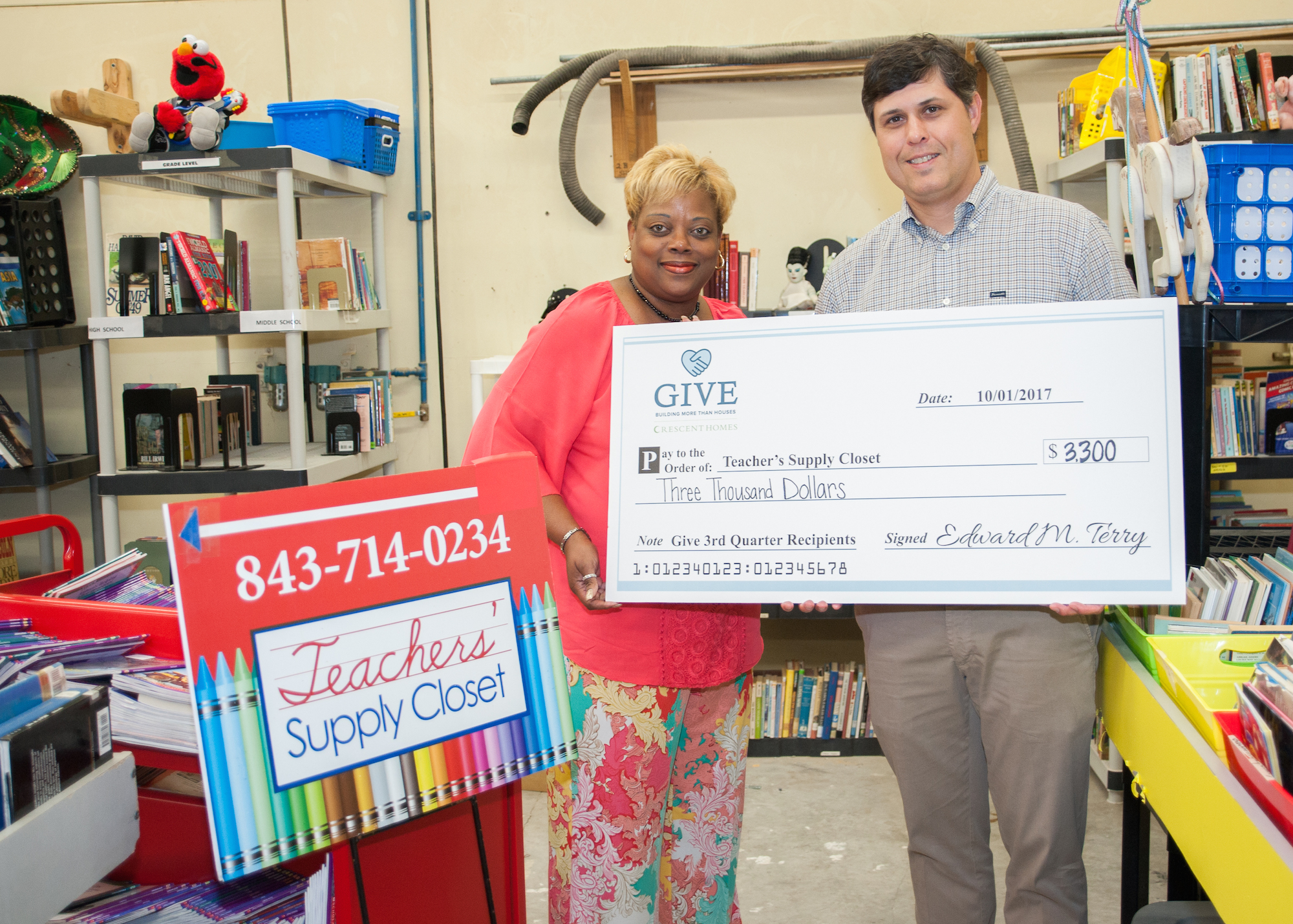 Crescent Homes GIVE Quarter 3 Teachers Supply Closet